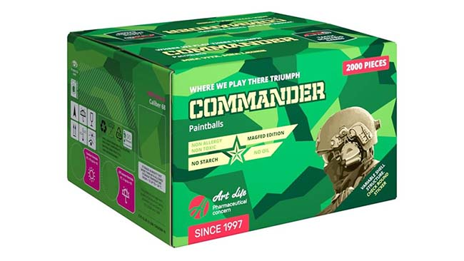Art Life Commander paintballs 2000pc - SUMMER