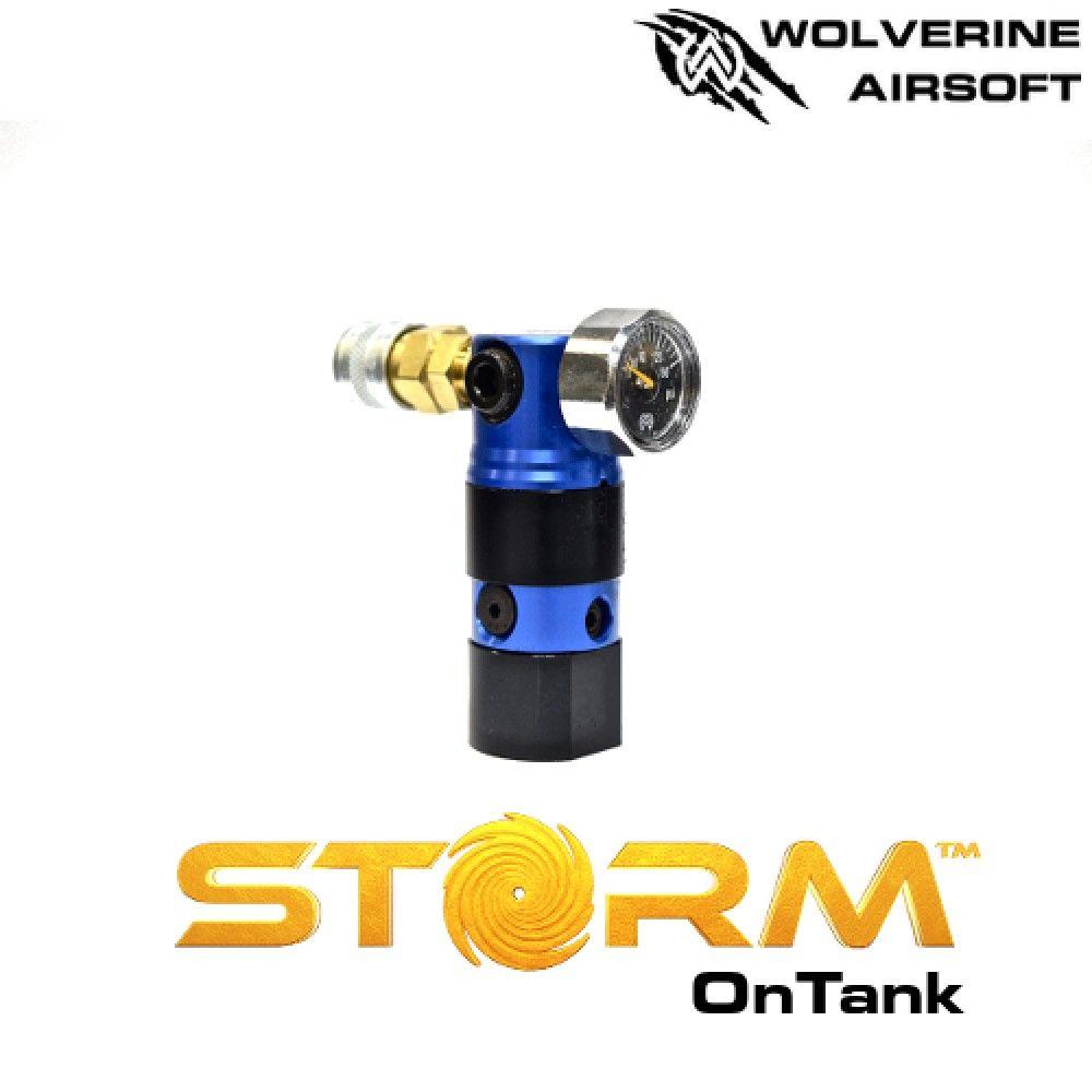 Wolverine HPA STORM Regulator On Tank Blue